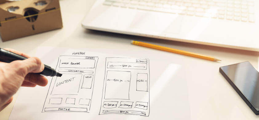 design a website mapping process