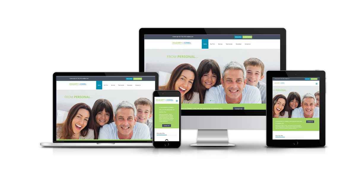 Dougherty & Connell Certified Public Accountants web mockups