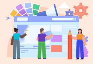 Figures creating a giant webpage graphic