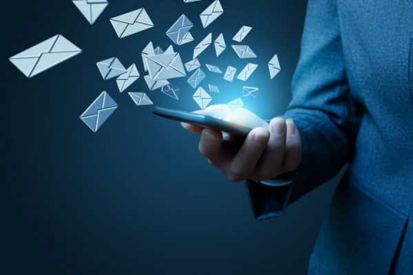 A businessman benefits from targeted email marketing services