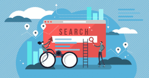 A search engine page