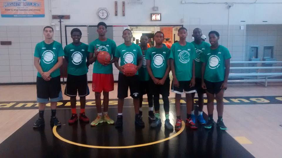 Flatbush Youth Association plays in basketball game