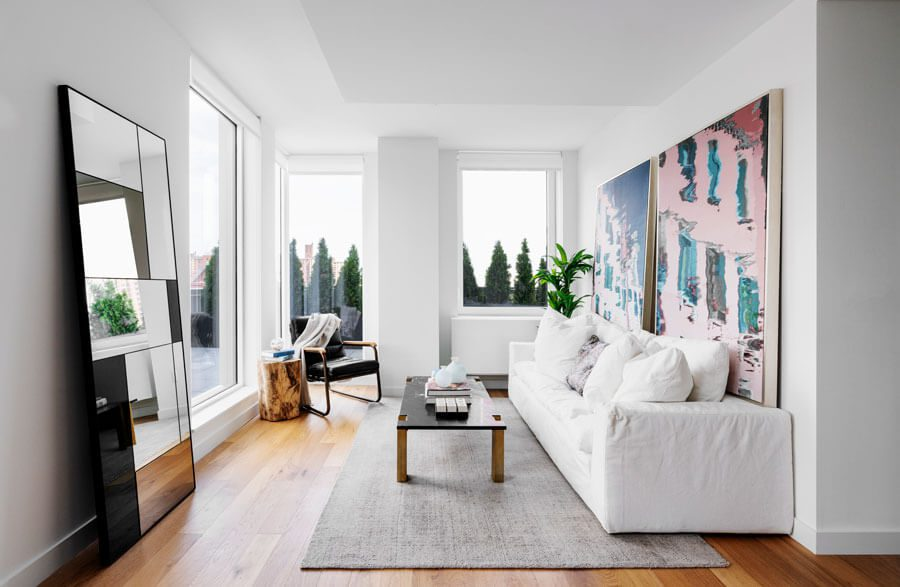 A decorated living room