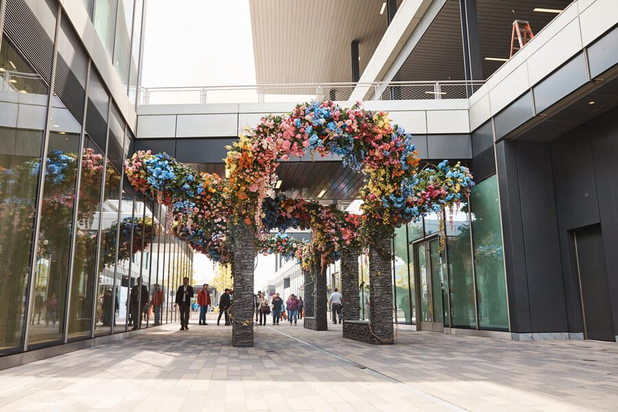 A decorative installation at Empire Outlets