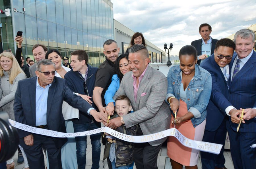 Ribbon cutting at Empire Outlets