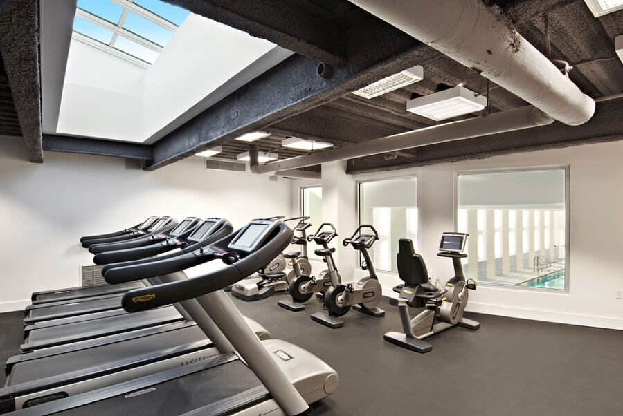 The gym in the Toren building