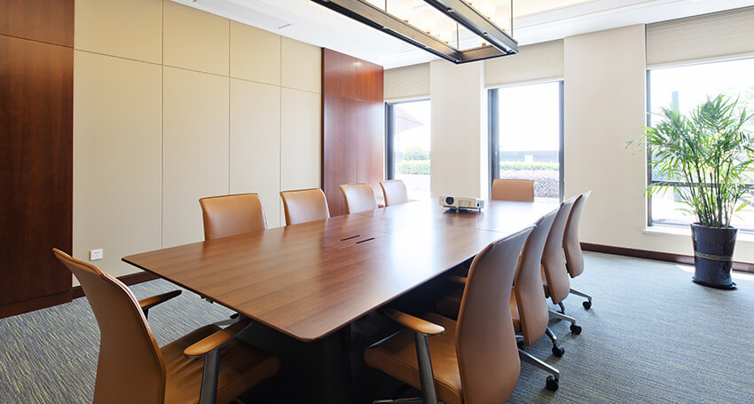 office cleaning in a conference room