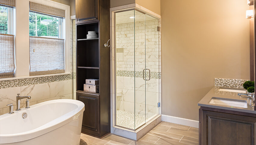 What a bathroom could look like after move-out cleaning services.