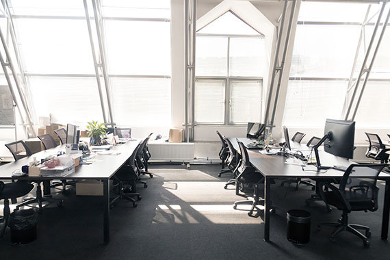 Disinfecting and sanitizing works on desktops, floors, walls and ceilings.