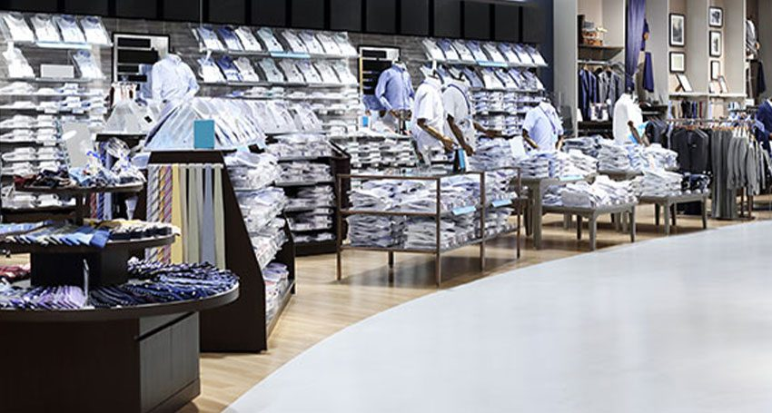 Electrostatic Spray Disinfecting in a clothing department store