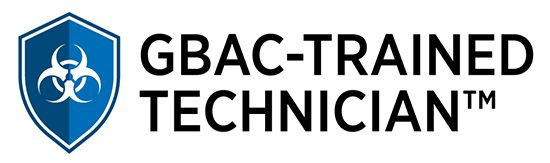 GBAC Trained Technician Shield certifies our professional cleaning company